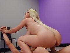 Full-bosomed blonde Skylar Vox sucks and rides chunky long weasel words