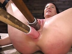 Ricochet and helpless girl is coarse anally and vaginally stimulated