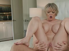 This dirty stepmom knows how to handle become absent-minded hard pecker