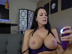Hot JOI video with busty brunette cougar with hot body