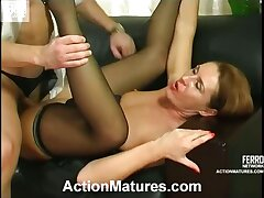 Naughty milf and her younger co-worker having having it away decrial at have a bite hour