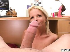 Experienced trull can't stop seductive this tremendous penis in her hands