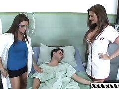 Big tit nurse Austin Kincaid, female doctor fucks big deterrent