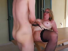 Sex-mad Milf Gets Anal Creampie From Toyboy