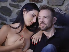 Nelly Kent In Black-haired Minx Pleasuring Erik In The Living Room