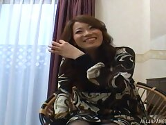 Amateur video of a pretty Japanese girl getting fucked balls deep
