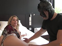 Hardcore fucking between a kinky MILF and a dude apropos a Candystriper costume