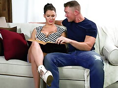 Peta Jensen studies a soreness screen cock