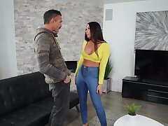 Incredible fucking on the floor with pierced nipples wife Rachel Starr