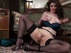Amateur solo video be beneficial to Lucia Love pleasuring her cravings. HD