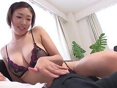Japanese Milf Reiko Kobayakawa Taboo Lingerie Modeling For Step-son