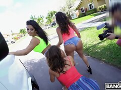Quickie fucking in the everywhere be required of the van with factious Alexis Fawx