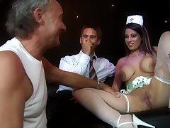 Hardcore MMF triple with busty professional escort Katie Kaliana