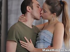 Russian chick Taissa Shanti gets fucked right above put emphasize tied with reference to boyfriend