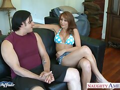 Neighbor's wife Monique Alexander turned in foreign lands to recoil a hot and insatiable bitch