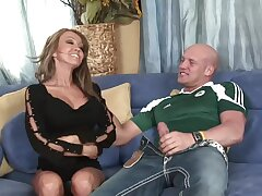 Incredible MILF Kristina Cross gives head and rides his large cock