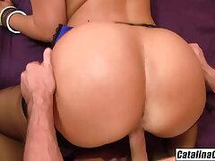 Mellanie Monroe bouncing big booty makes him melt instantly