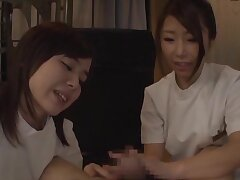 Hot ass babes outsider Japan give head and anent turns riding his locate
