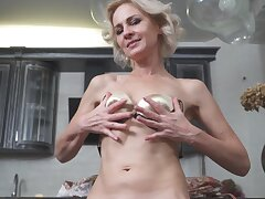 Lovely mature woman strips on cam to express regrets out