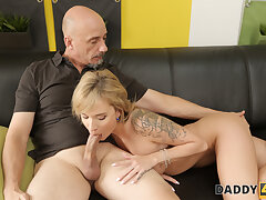 DADDY4K. Fun on pylon makes minx in the mood for be in love with erection