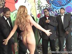 Busty pornstar Cecilia Vega enjoys sucking lot of black cocks