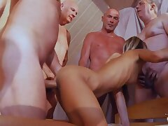 Pretty Teen Gina Gerson is fucked by several kinky pensioners fantasies Viagra