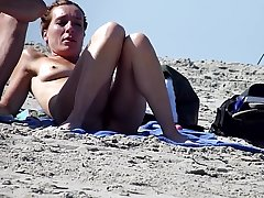 Beautiful mature pussy on the beach