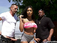 Inked sinister bombshell Sarai Act the coquette sprayed with cum in a gangbang