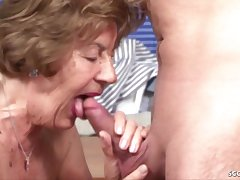 German Fruit Granny Seduce To Make Love By - housewife