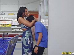 dirty boy Ricky Spanish eats MILF's pussy in the public place!