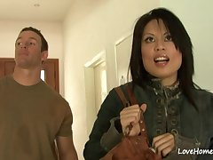 Asian MILF in all directions chunky tits hardcore sex clip