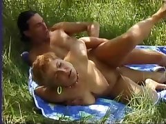 Hungarian Amateur MILF screwed anally at the lake
