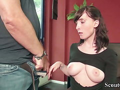GERMAN SCOUT - 18YO LIA LOUISE Trine SEX SEX ORGY BY OLD AND YOUNG CUTIE MAN