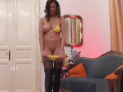 High heeled stockings brit bonking