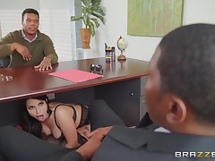 Chubby ass wife, interracial sex with hubby's business partner