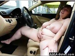 german big boobs full-grown masturbate  beyond car