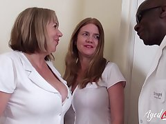 AgedLovE A handful of Horny Nurses and Huge Black Cock