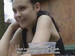 Hot amateur girl from Czech street