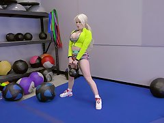 blonde girl Nikki Delano rides a friend's penis inhibition training