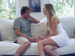 Sex-starved housewife Brett Rossi seduces 19 yo delivery young man added to rides his load of shit