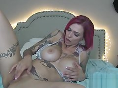MILF Teases Fan With Big Tits