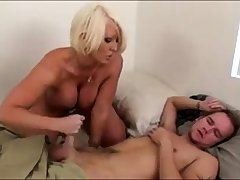 Morning Handjob From Horny Big Tit Stepmom