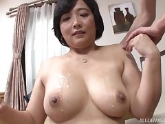 Toyokawa Mutsumi shows her massive tits to someone's skin camera for someone's skin first length of existence