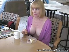 Amateur granny named Wicked Sexy Melanie gets laid big maturity here.