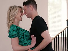 Mouth watering busty milf Kit Mercer has an affair with attracting stepson