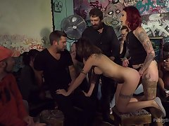 Amateurs in popular orgy possessions dicks in each hole