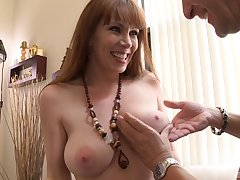Mature sprog RayVeness strips and teases before having staggering sex
