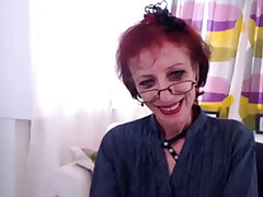 Skinny Granny Up Webcam Show Her pussy
