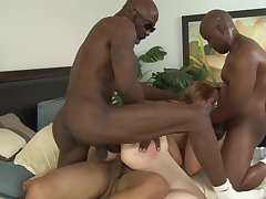 MILF Kirsten Kitz loves to dread gangbanged by big Negroid dicks