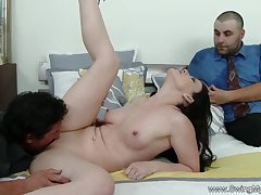 Enjoying An obstacle Sex While Her Husband Is Watching Her